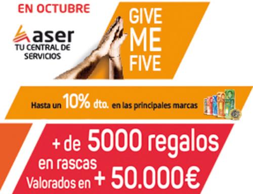 El 1 de octubre llega el Give Me Five by ASER